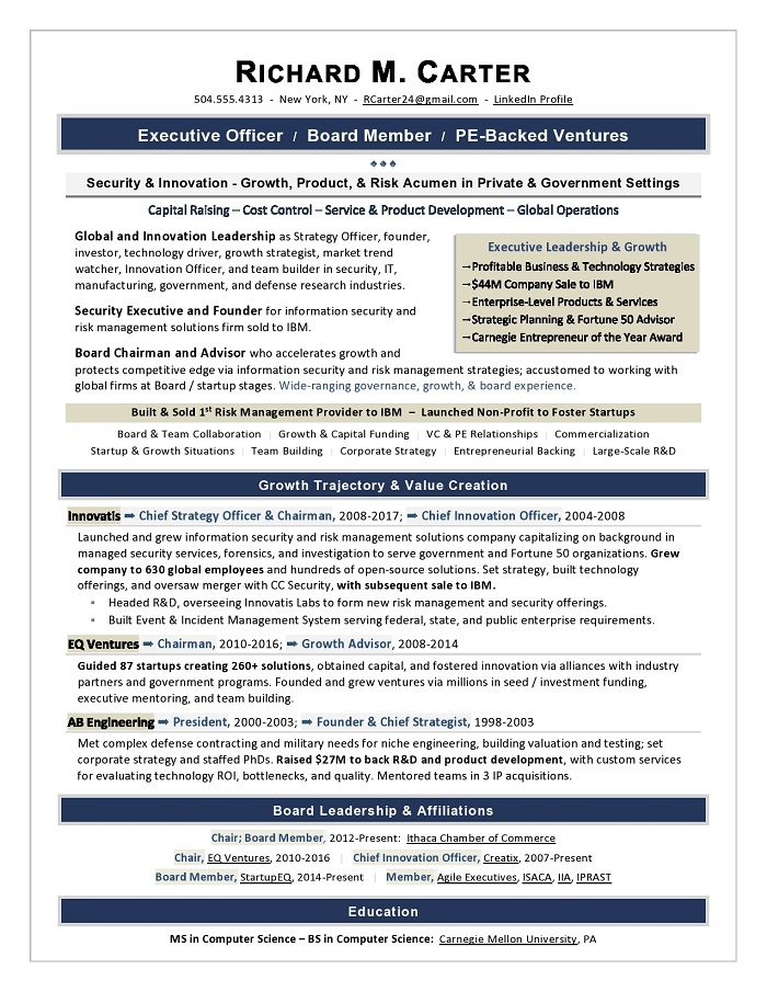 sample cover letter for vp corporate strategy
