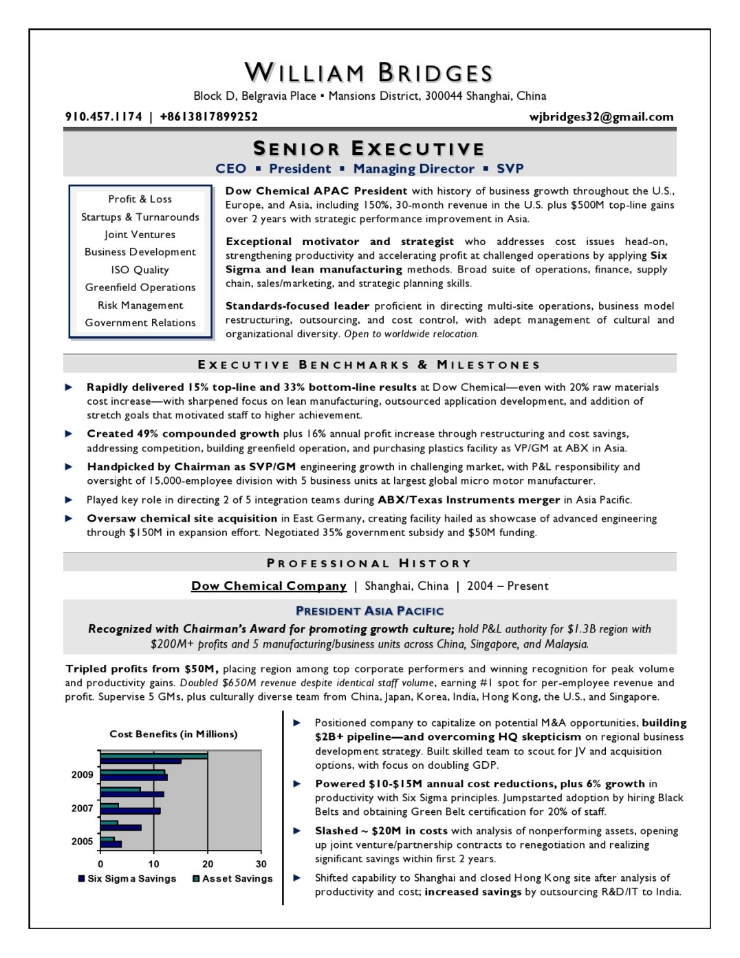 Executive resume writing service example