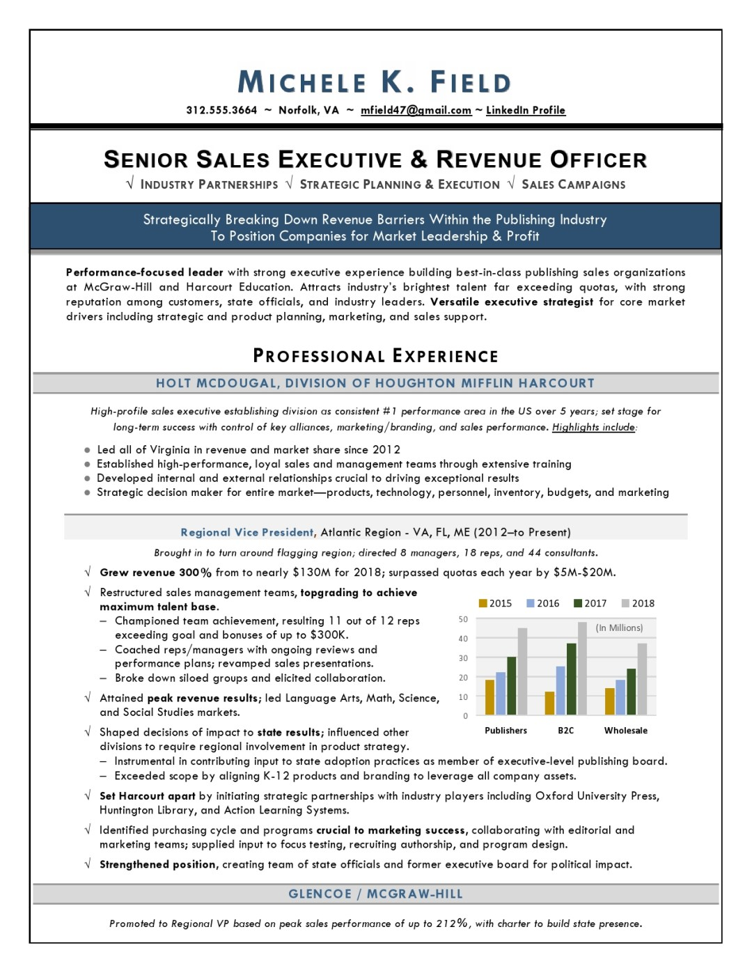 Regional VP Sales Sample Resume