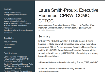 Professional Or Executive Resume Whats The Difference >> I Used Linkedin To Build My Resume And Here S What