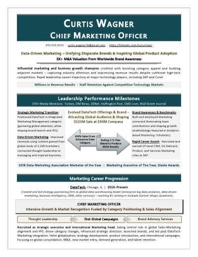 CMO Resume by Award-Winning Executive Resume Writer Laura Smith-Proulx
