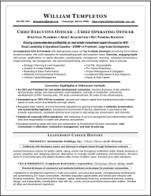 CEO & COO Real Estate Resume