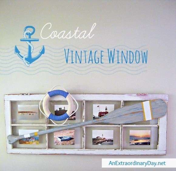Coastal Vintage Window Photo Frame :: AnExtraordinaryday.net