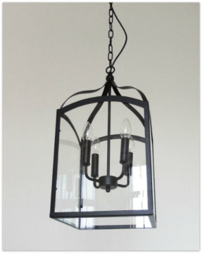 Make a Charming Home with Affordable Farmhouse Style Lighting   An     Farmhouse 4 Lights Vintage Industrial Style Rusty Wrought Iron Glass Pendant  Light