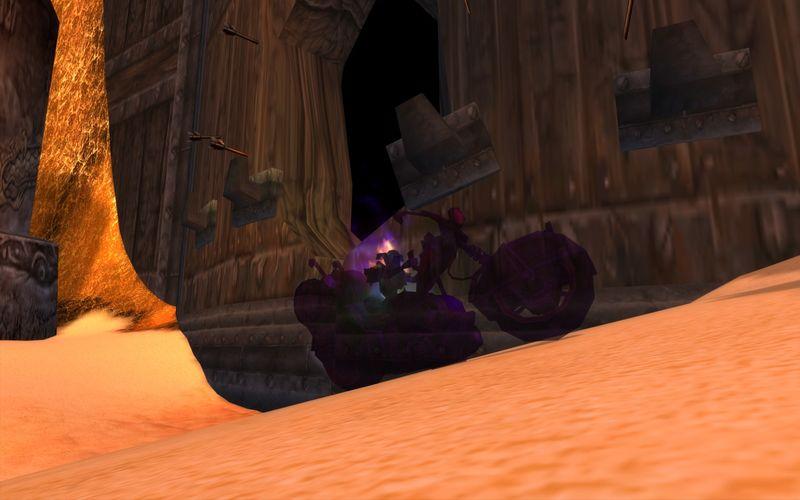 shadow priest on motorcycle, Uldum