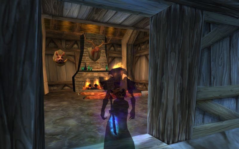 shadow priest in an old Westfall hunting cabin