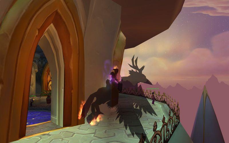 Shadow Priest on Blaxing Hippogryph TCG mount