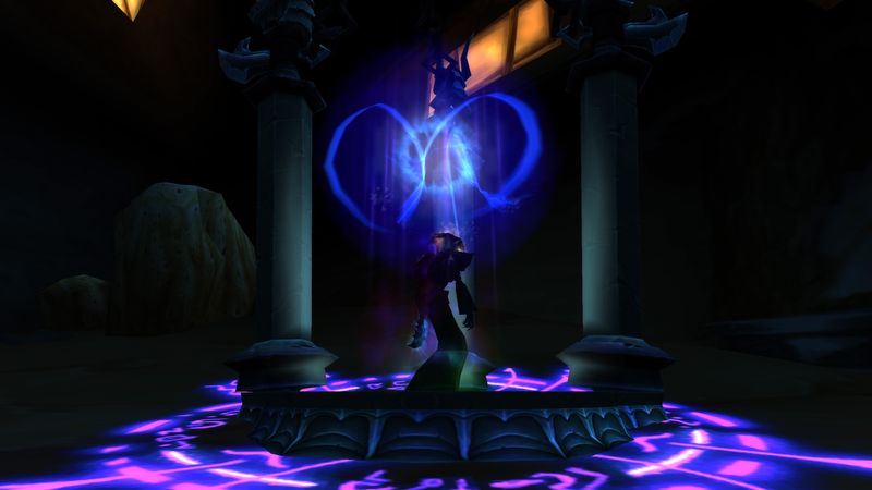 shadow priest Anexxia at the Doomsday altar