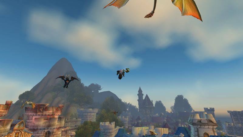 It's a bird! No, it's a plane! No, it's Psychocandy suffering from creepy lag in Stormwind!