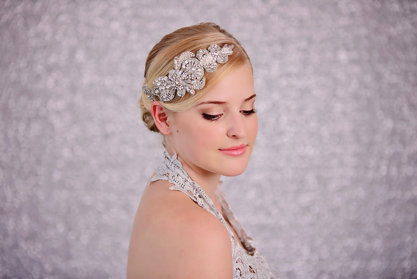 Bridal Silver Rhinestone Headpiece