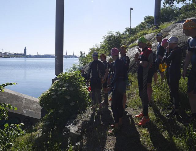 Swimrunträning Långholmen