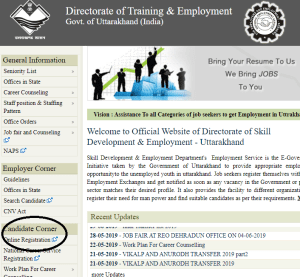 Image Uttarakhand Employment Registration