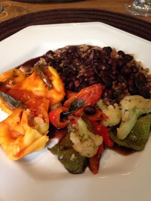 Meu prato de comidas quentes No Bistrô do Solar (Porto Alegre/RS)