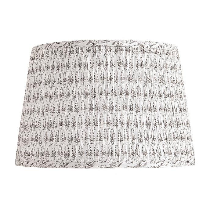 Ballard gray pleated lampshade