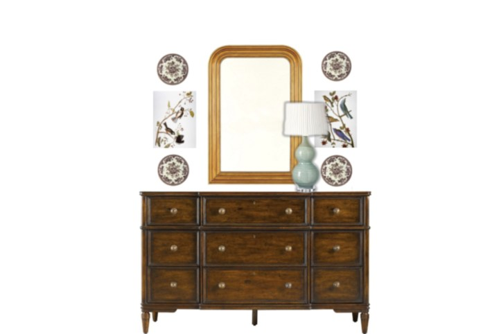 Styling a wall mirror