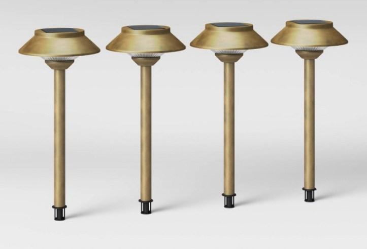 Gold outdoor solar lights