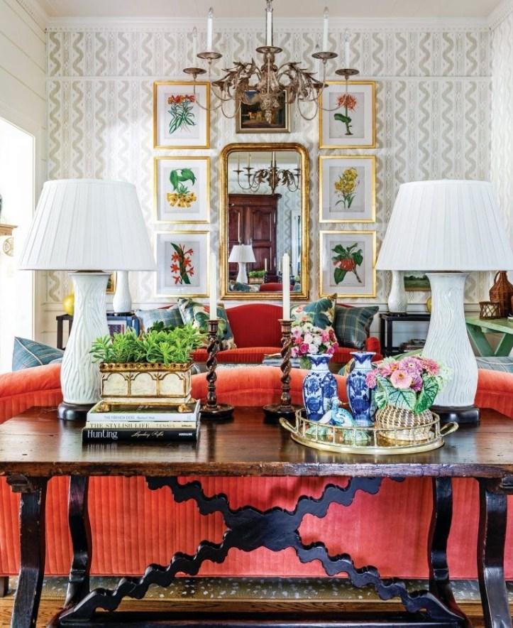 James T Farmer grandmillennial living room