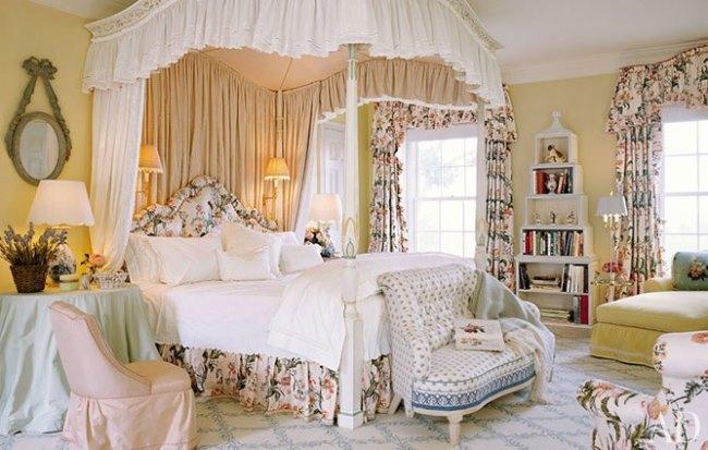 Mario Buatta bedroom traditional design