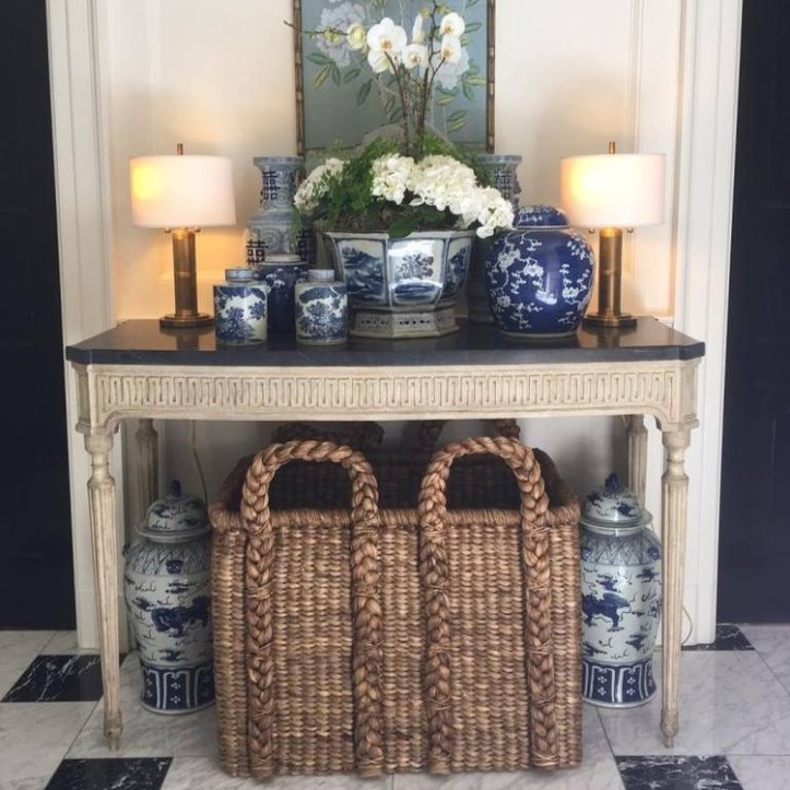 Caroline Gidiere entryway with basket