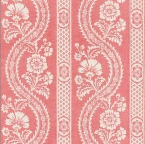 Schumacher Versailles fabric in raspberry