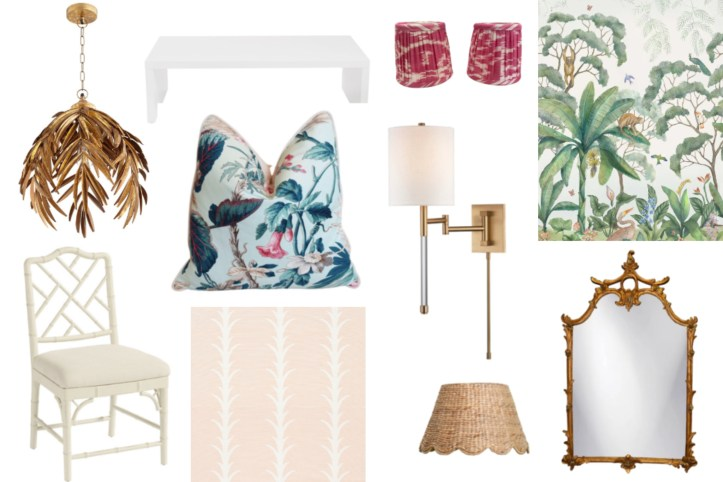 Palm Beach Regency Style home accents