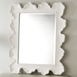 White ruffle mirror