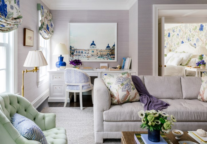 Ashley Whittaker purple sitting room