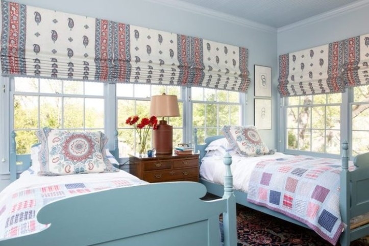 Mark D. Sikes kid bedroom with multiple beds