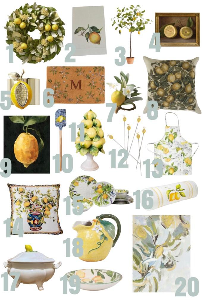 20 lemon decor finds