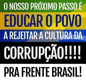 cultura da corrupção rejeitada 28-11-2015