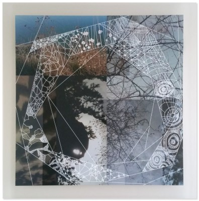 """Shadowland"" digital drawing on digital photograph mounted on acrylic, 30""x30"", 2016"