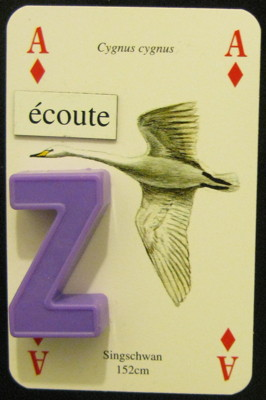 Ace of diamonds from the 'Wasservögel' deck: Swan Song (or: The Listeners)