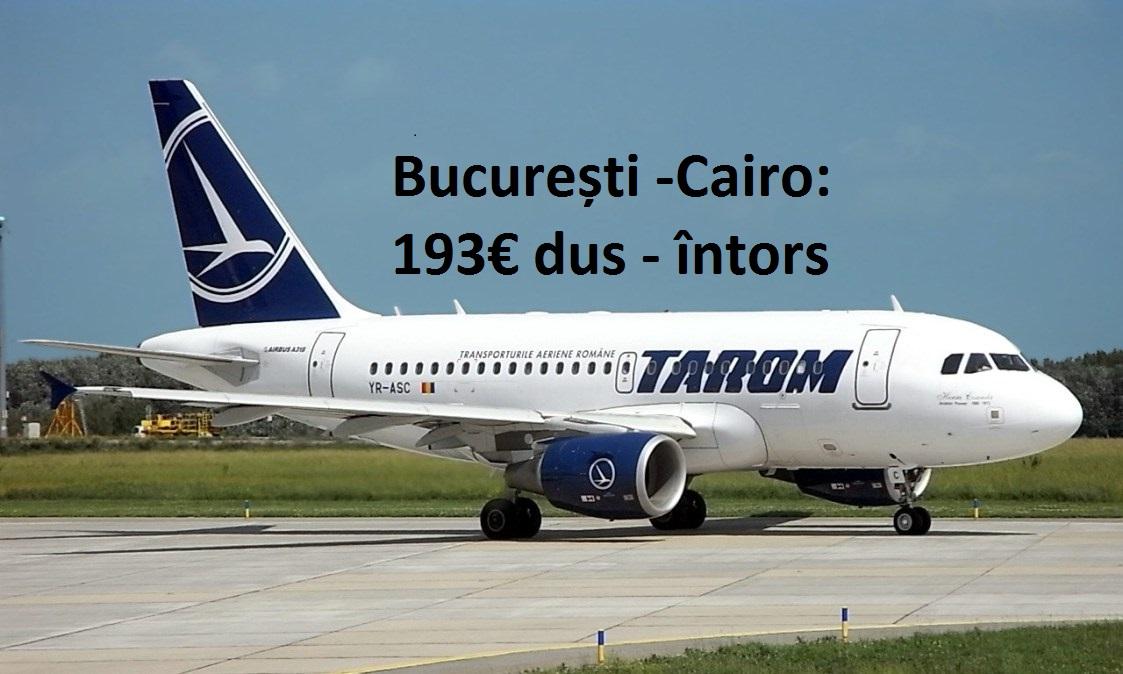 zboruri directe București - Cairo începând de la 193€ dus-întors