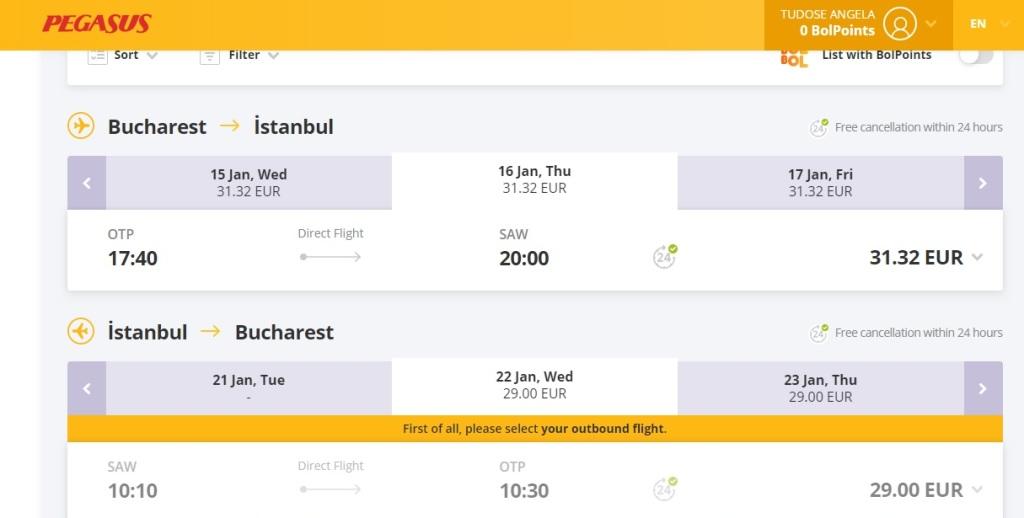 Pegasus Airlines: București - Istanbul și retur de la 61€