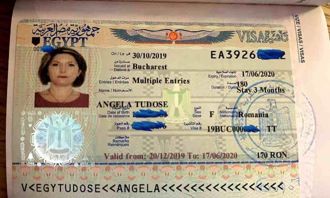 Viza turistică pentru Egipt