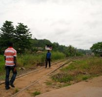 Tarkwa-Takoradi railway line, not much sign of activity