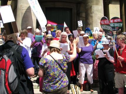 Singing protesters, All Souls Church