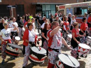 Drummers raise tempo of Walk of Remembrance