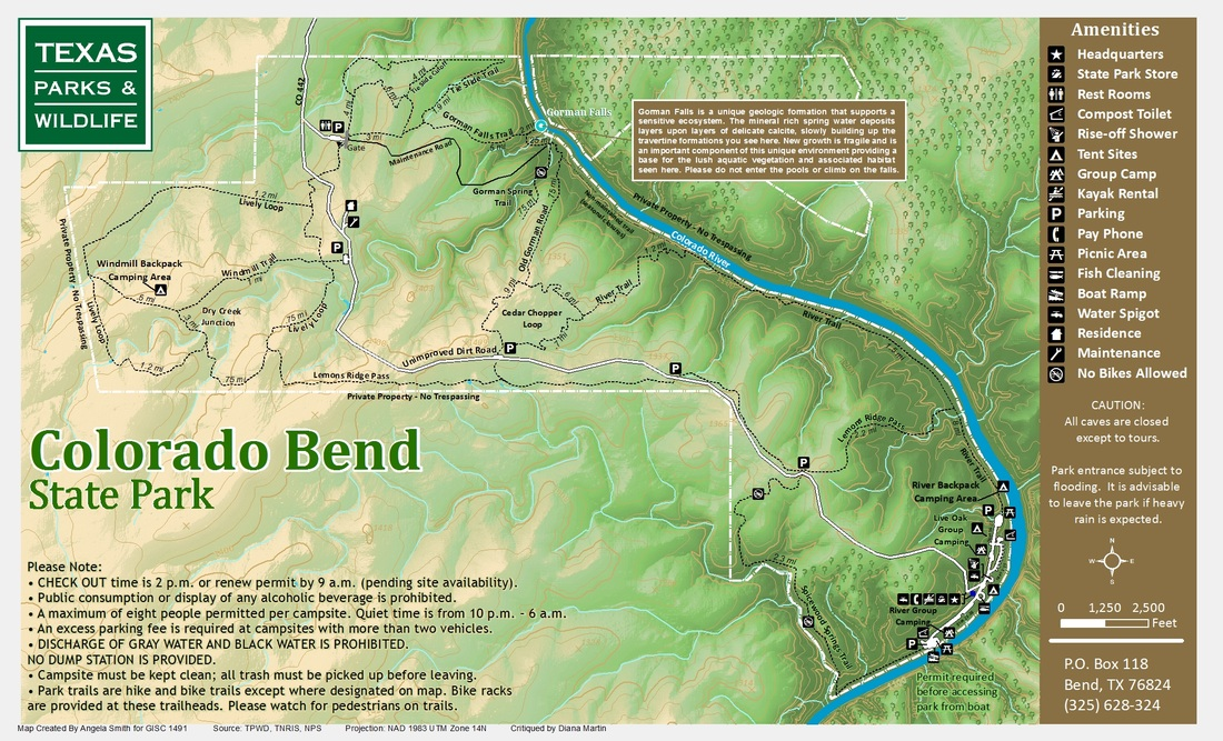colorado bend state park redesign acs map portfolio