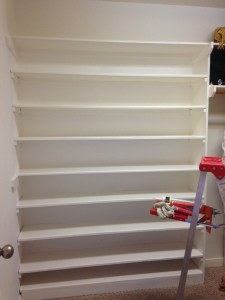 DIY - Custom Built in Shoe Shelf