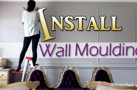 How To Install Wall Moulding / Molding Trim