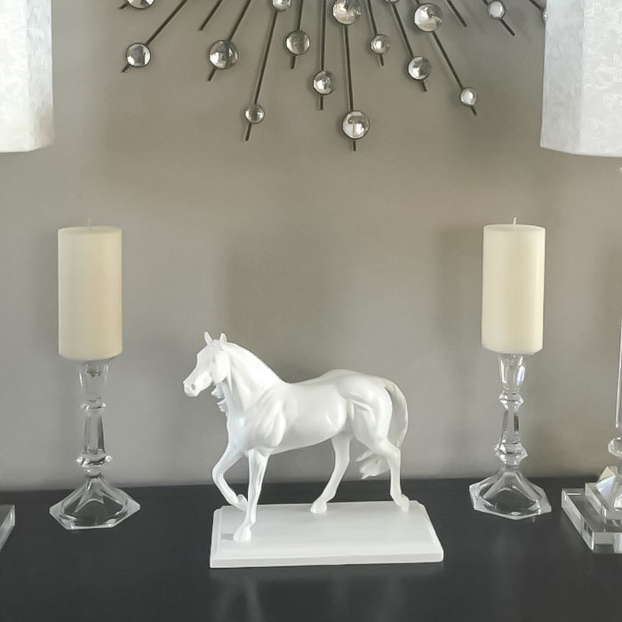 High End Inspired White Horse Statue | Home Décor DIY