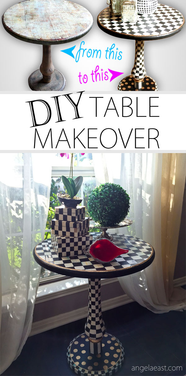 Mackenzie Childs Inspired Accent Table   DIY | Alice In Wonderland |Home  Decor |Baroque