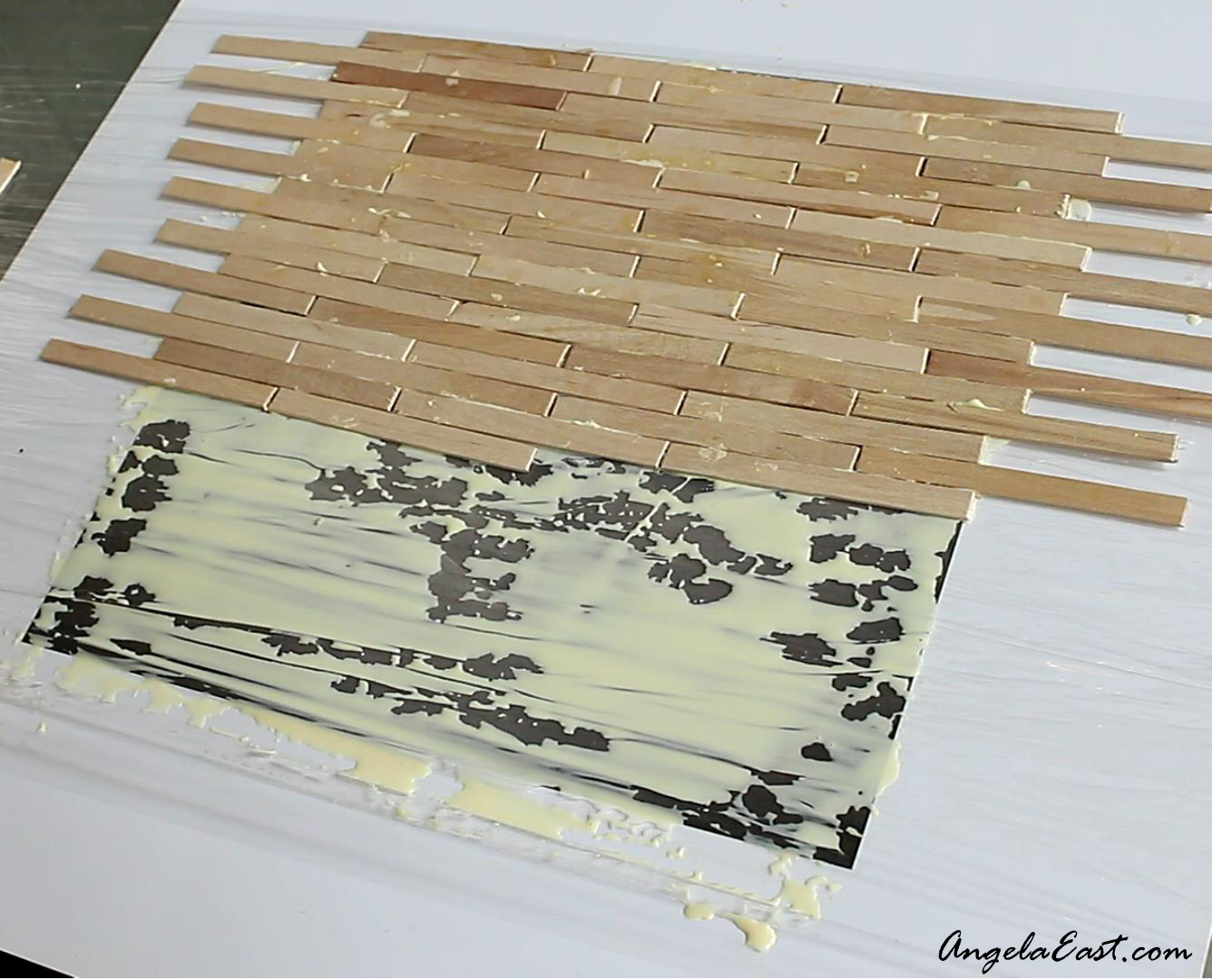 IKEA Hack - DIY Wall Art Transformation #homedecor #dollartree at angelaeast.com