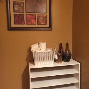 Powder Room Makeover #homedecor #1Room30Days with Angela East at angelaeast.com
