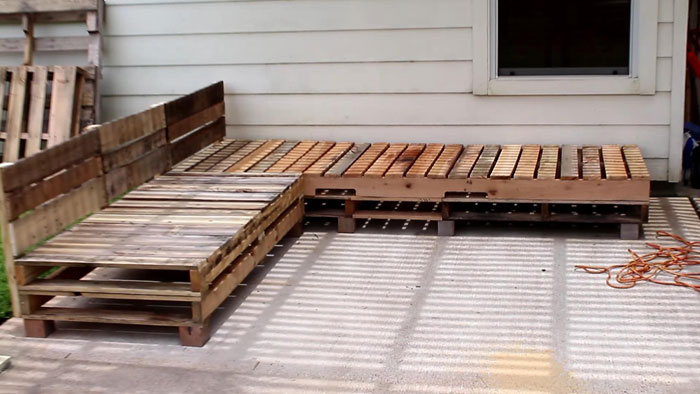 DIY Pallet Furniture   Patio Furniture Sectional | DIY Furniture | DIY |  Outdoor Living |