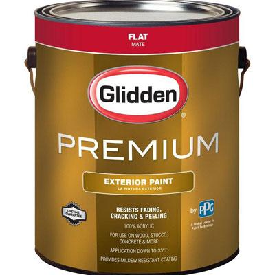 Glidden 1-gal. Flat Latex Exterior Paint