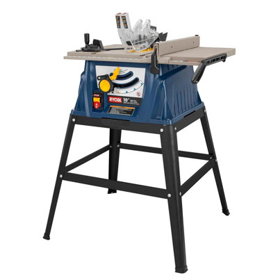 Ryobi 10 in. 15 Amp table saw with stand