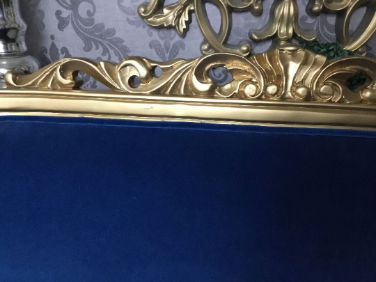 Royal Blue French Settee