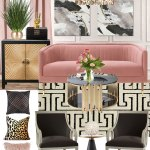 Pink Living Room Mood Board